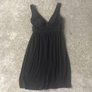 Calvin Klein Black Dress With Detailed Shoulders